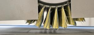 Schleifbürste zur Strukturierung oder Glättung von Holzoberflächen
